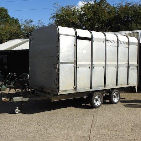 Lot 1,   An Ifor Williams galvanized livestock twin axle trailer, box 370 x 200cm 800/1200