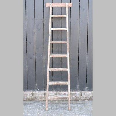 Lot 46,   A wooden ladder, 185cm high 30/4