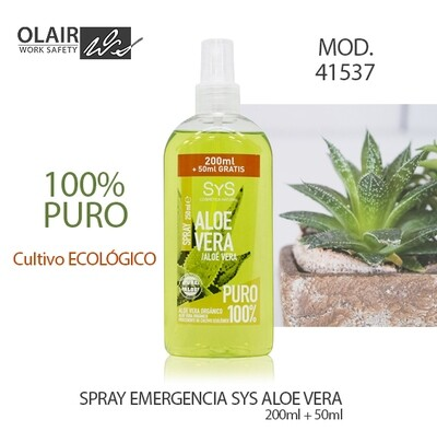 SPRAY EMERGENCIA ALOE VERA 100% PURO