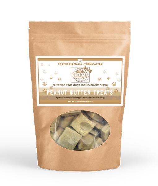 CBD Oil Peanut Butter Dog Treats 100 mg