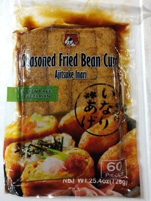 Ajitsuke Inari Seasoned Fried Bean Curd 60 ct