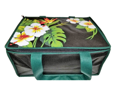 Tropical Paper Garden - Insulated Casserole Bag Large- KINOHI BLACK