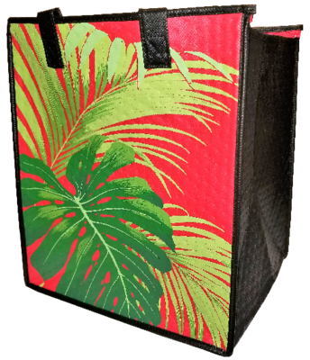 Tropical Paper Garden - Insulated Large Bag - MOKU RED
