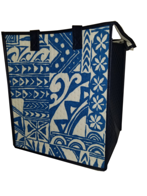 Tropical Paper Garden - Insulated Large Bag - MOEMOEA BLUE