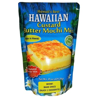 Hawaii's Best Hawaiian Custard Butter Mochi Mix 15oz
