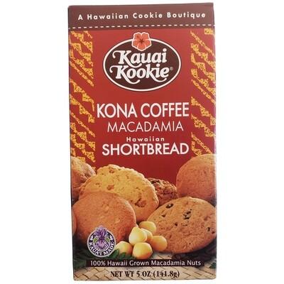 Kauai Kookie Kona Coffee Macadamia Cookies 5 oz