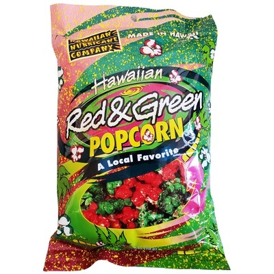 Hawaiian Hurricane Red and Green Popcorn - 6 oz
