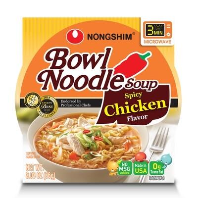 NongShim Bowl Noodle Soup Spicy Chicken Flavor 3.03 oz