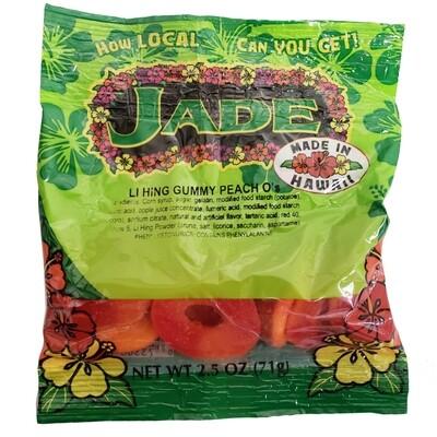 Jade Li Hing Peach O's 2.5 oz (NOT FOR SALE TO CALIFORNIA)