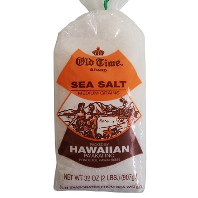 Old Time Hawaiian Sea Salt 2LB (Med Grains)