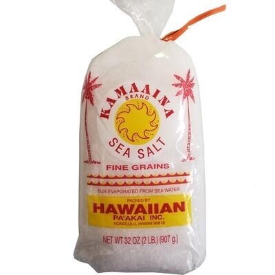 Kamaaina Sea Salt 2 LB (Fine Grains)