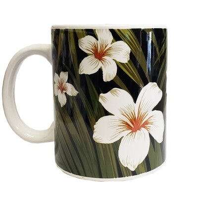 Mug- Plumeria and Fronds  11 oz
