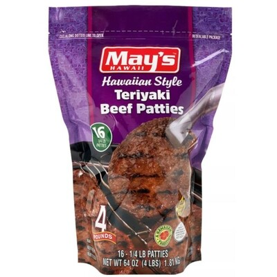 May's Teriyaki Beef Patties 4 lb