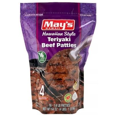 May's Teriyaki Beef Patties 4 lb
