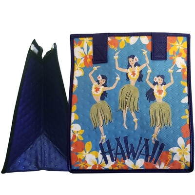 Tropical Paper Garden - Insulated Small Bag -HULA MAIDS BLUE
