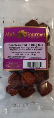 Aloha Gourmet Seedless Lihing Mui Red 1oz
