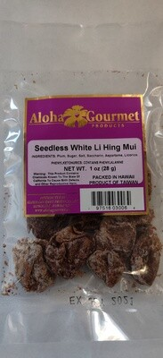 Aloha Gourmet Seedless Li hing Mui White 1 oz