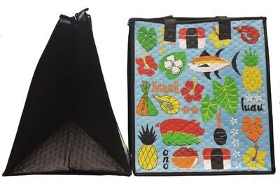 Tropical Paper Garden - Insulated Large Bag - KALUA PIG SKY