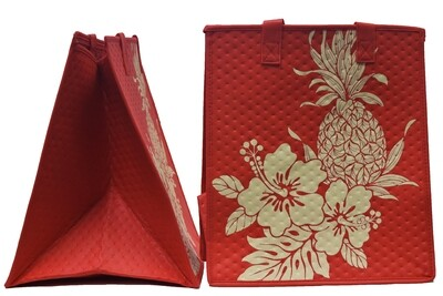 Tropical Paper Garden - Insulated Large Bag - POAMOHO RED