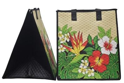 Tropical Paper Garden - Insulated Large Bag - KUUIPO CREAM