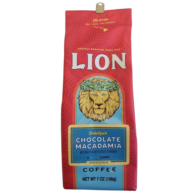 Lion Chocolate Macadamia Ground Coffee 7 oz