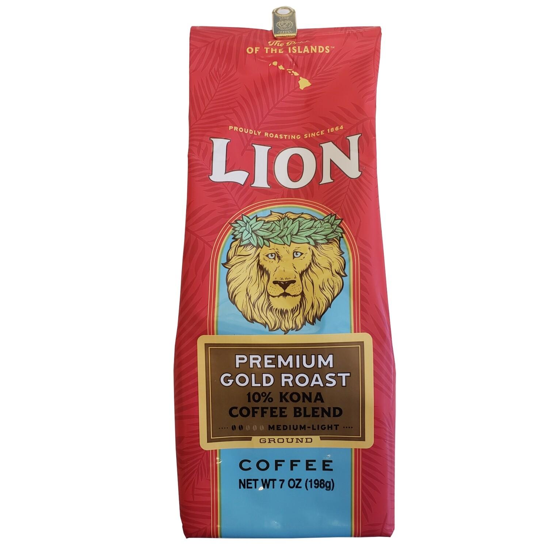 Lion Premium Gold Ground Coffee 7 oz