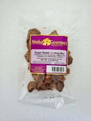 Aloha Gourmet Super Sweet Li Hing Mui 2 oz (NOT FOR SALE TO CALIFORNIA)