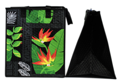 Tropical Paper Garden - Insulated Large Bag - RECOGNIZE BLACK