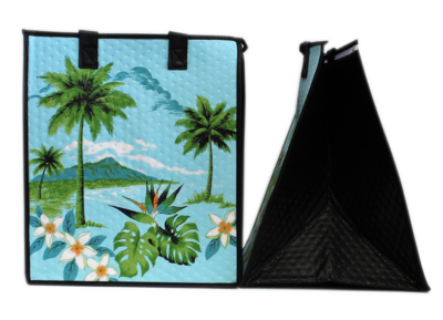 Tropical Paper Garden - Insulated Large Bag - KAY DEN BLUE