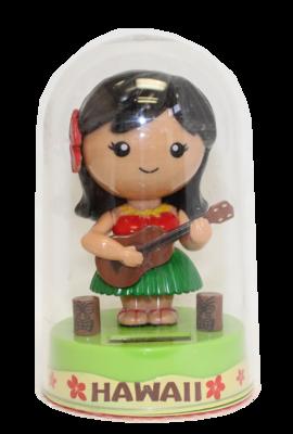Solar Hula Doll Green Ukulele