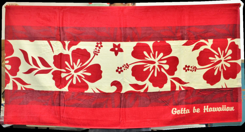 "Beach Towel- Hibiscus 30"" x 60"""