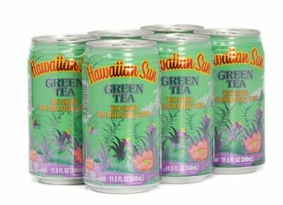 Hawaiian Sun Drink - Green Tea With Ginseng 11.5 oz (Pack of 6)