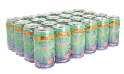 Hawaiian Sun Drink - Green Tea With Ginseng 11.5 oz (Pack of 24)