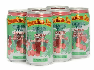 Hawaiian Sun Drink - Green Tea With Lychee 11.5 oz (Pack of 6)