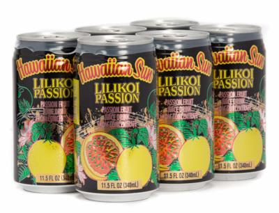 Hawaiian Sun Drink - Lilikoi Passion 11.5 oz (Pack of 6)