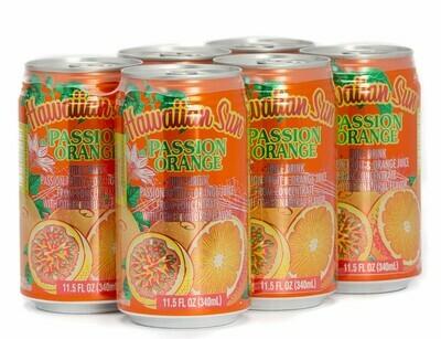 Hawaiian Sun Drink - Passion Orange 11.5 oz (Pack of 6)
