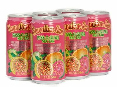 Hawaiian Sun Drink - Pass-O-Guava 11.5 oz (Pack of 6)