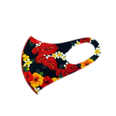 Adults Polyester/Spandex Washable Mask -  Aloha Festival