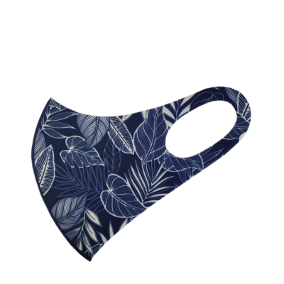 Adults Polyester/Spandex Washable Mask -  Tropical Navy