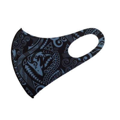 Adults Polyester/Spandex Washable Mask -  Tribal Shark