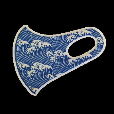Adults Polyester/Spandex Washable Mask -  Tsunami