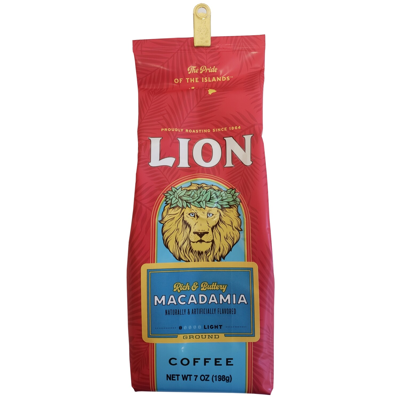 Lion Macadamia Ground Coffee 7 oz