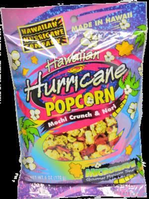 Hawaiian Hurricane Microwave Popcorn Mochi Crunch & Nori Individual Pkg 6 oz