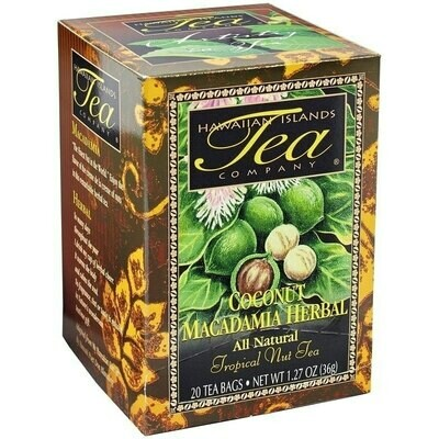 Hawaiian Islands Tea Co. Coconut Macadamia Herbal Tea 20CT/EA 1.27oz