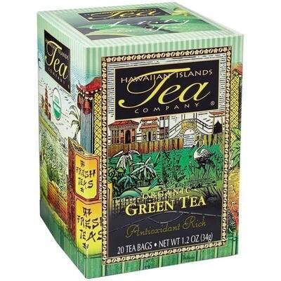 Hawaiian Islands Tea Co. Certified Organic Green Tea 20CT/EA 1.27oz