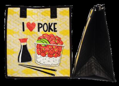 Tropical Paper Garden - Insulated Medium Bag -  I LOVE POKE