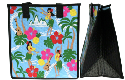 Tropical Paper Garden - Insulated Medium Bag - ISLAND GIRLS SKY