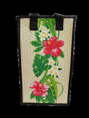 Tropical Paper Garden - Double Wine Bag- Unforgettable Cream