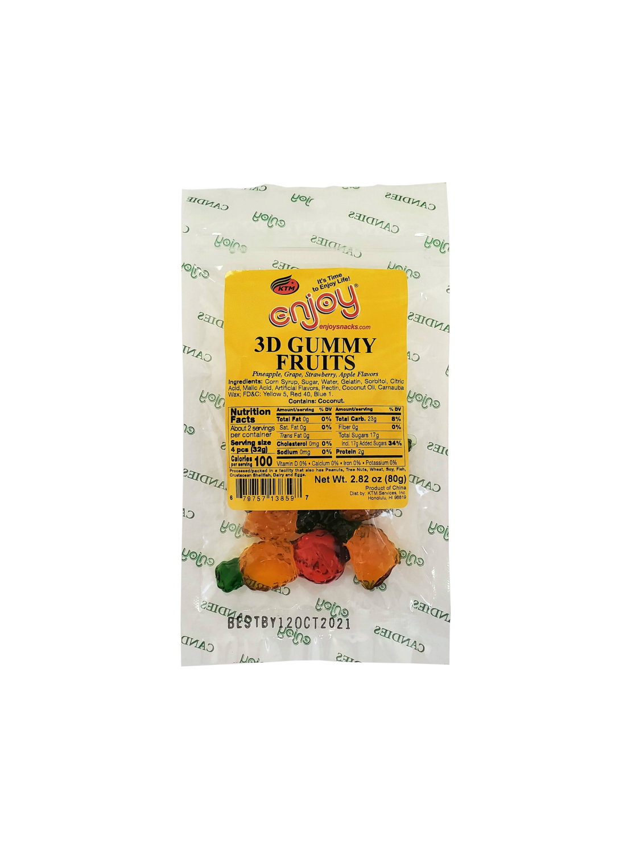 Enjoy 3D Gummy Fruits 2.82 oz