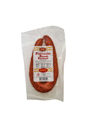 Franks Foods Portuguese Sausage Hot 12 oz